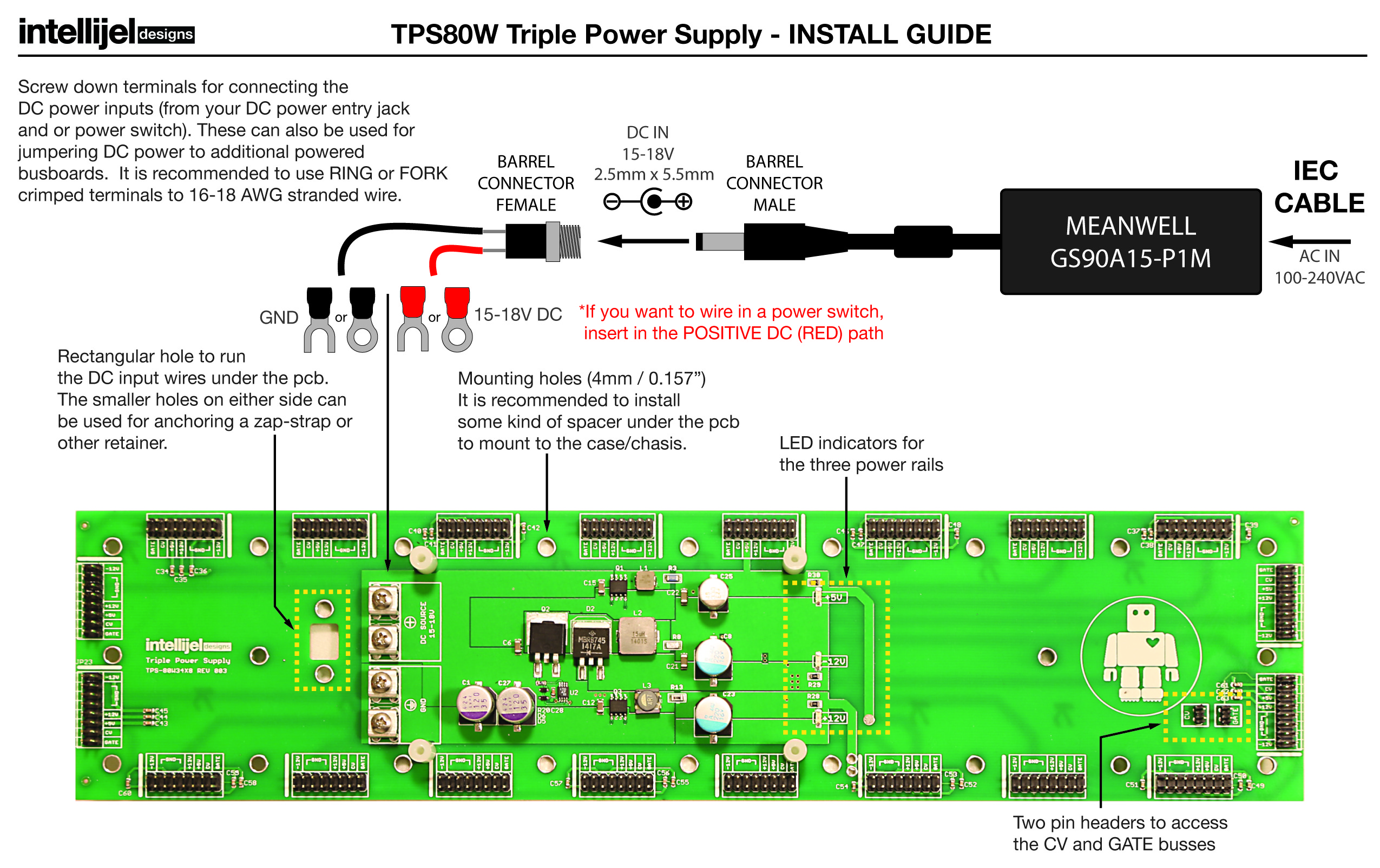 Tps80w Triple Power Supply 80w 3u 6u Busboard Intellijel Intelli Converter Wiring Diagram Overview